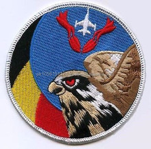 F-16 FIGHTING FALCON SWIRL PATCh cheap round scenery shape custom embroidery patches
