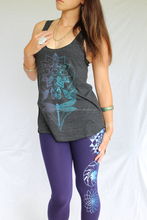 Icy blue two tone print on American Apparel quality Sacred Geometry Legging