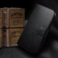 Flip Leather Flip Case Cover Skin Holster Pouch for Samsung Galaxy S5 i9600
