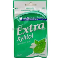 Extra Xylitol Peppermint Chewing Gum 20pcs Bag / Wrigley Chewing Gum / Wholesale Chewing Gum