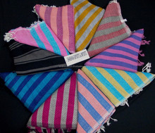 fouta stylish towel with custom made multicolored designs