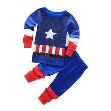 High Quality Clothing Stock With LOW MOQ Kids Girl Fall Winter Casual custom Print Night Suits Cotton Kids Sleeping Wear