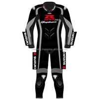 Red hayabusa Black suzuki leather motorbike suit