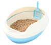 Makar cat litter box with grill for pine sand