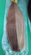 Top grade vigin brazilian hair weft brown color straight 100% human hair weaving