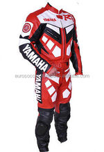 Yamaha Cow Grain Leather Certified Ce Armour protective Motorcycle Biker Suit