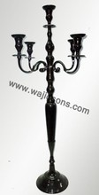 Jet black candelabra and centerpieces manufactured by Wajidsons Corporation
