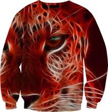 Lion Printed Sweatshirt/Heat crewneck sweater/ Customized long sleeve 100% cotton Sweatshirt