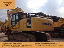 used komatsu PC 200-7 excavator for sale in china, japan made