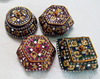 Round Kumkum Box Womens Sindoor Boxes coloured boxes