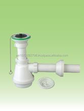 Kitchen sink drainer pipe with strainer , wash basin waste sewer,sink bottle trap ZAT-ZD2455