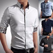 Men's cotton casual shirt design fashion short sleeve shirt