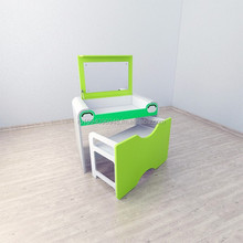 Children's table with storage - 940x600x750 with bench 890x450x570