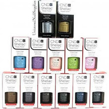 CND Shellac Nail Gel Polish Fall 2012 Winter Collection + Spring 2013 Sweet Dreams Collection With Base & Top Coat