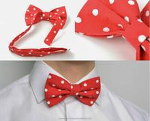 Handmade bow tie with polka dots