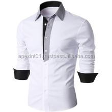 2015 long sleeve stripped cheap casual shirts wholesale cotton fashion men dress shirt plus size mens shirts