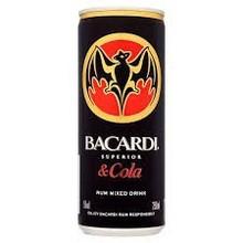 BACARDI & COLA 250ml CANS