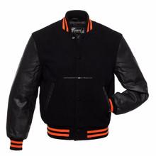 baseball bomber jacket / college style / wool varsity baseball jacket