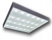 LED office celling fixture with prismatic glass 36W 12-24V IP40 NI