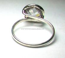 Latest Sterling Silver Jewellery 925 Sterling Silver Crystal Quartz Gemstone Ring