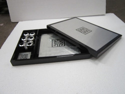Set Sliver Lacquered Wedding Box included coasters/ napkin rings and table mats