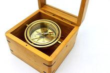 ottone nautico antico bussola meridiana regalo promozionale bussola con scatola di legno 13320