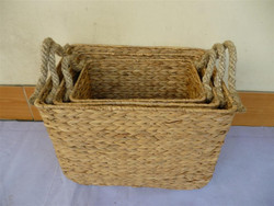 100% natural handmade, Eco-friendly, water hyacinth basket, beautiful creative made in Vietnam