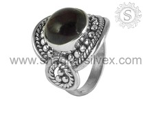 Handmade Silver Jewellery Wholesale Garnet 925 Sterling Silver Ring Wholesaler & Supplier RNCB1110-4