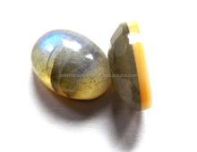 Labradorite & Mother of Pearl 10x14mm Oval Cabochon Doublet Loose Gemstone