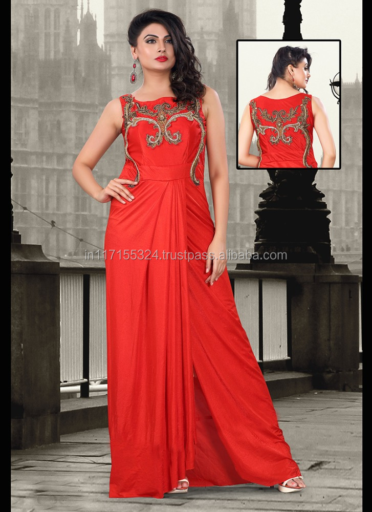 Latest women evening dress wholesale dress ladies floor for Floor touch gown
