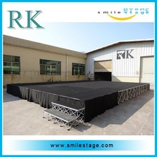 hottest portable event stage setup with collapsible riser