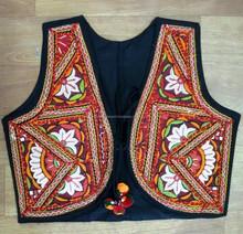 Popular colorful traditional natural handmade Kutchi Embroidered Fashionable Handmade Gujarati koti waistcoat Jackets