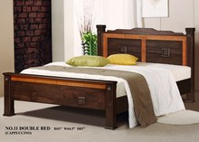 Antique Solid Bed, High Quality, Wooden Bedroom Furniture