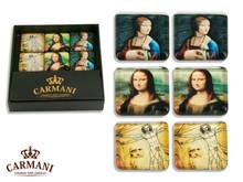 CARMANI Fridge magnet set with LEONARDO DA VINCI art