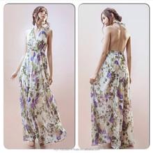 Kelly Floral Halter Dress