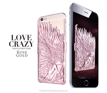 Luxury cover capa case for iphone 6 4.7 plus 5.5 phone italy design art angel wing relief sculpture enchase