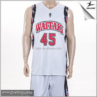 Healong 3D Sublimation Transfer Free Sample Jersey Shirts Design For Basketball
