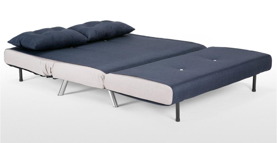 haru divano letto piccolo, quarzo blu 2 divani posti-divani di ... - 2 Posti Divano Letto Blu