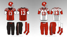 Youth American football uniforms