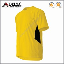 New gold soccer jersey 2016 with 100% polyester