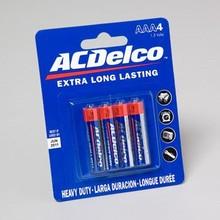 BATTERIES AC DELCO AAA 4PK HEAVY DUTY ON BLISTER CARD #AC124N
