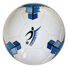 100 size 5 soccer balls with custom logos, shipped Door-to-Door to Kansas, 66012 USA