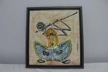 Flutist - Painting on a Canvas