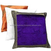 """Multicolor Wholesale Lot 3 Cushion Cover Velvet Pillow Patchwork Throw 16"""" X 16"""" PL13182"""