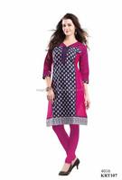 Wholesale Fancy cotton Kurtis-Indian 100% cotton Kurtis