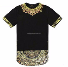 Hottest Street style long t shirts / round bottom long t shirt with side zipper
