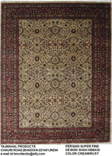 HAND KNOTTED WOOL AND SILK RUGS INDIAN SILK RUGS ,SHAH ABBASI