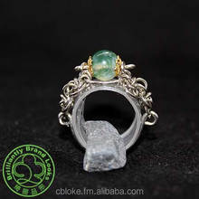 ChainStyle Ring In Moss Agate-1