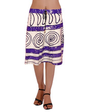 simple & soft purple & while color short skirt
