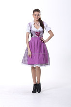 Purple dirndl dress with beautiful embroidery